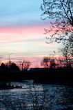 Ηλιοβασίλεμα ποταμών Boise Στοκ φωτογραφία με δικαίωμα ελεύθερης χρήσης