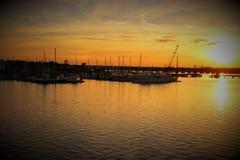 Ηλιοβασίλεμα πτώσης στη νέα βόρεια Καρολίνα της Βέρνης Στοκ Εικόνες