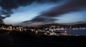 Ηλιοβασίλεμα πόλεων Swanage στοκ φωτογραφία με δικαίωμα ελεύθερης χρήσης