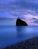 Ηλιοβασίλεμα σε Μαύρη Θάλασσα στοκ φωτογραφία με δικαίωμα ελεύθερης χρήσης