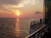 Ηλιοβασίλεμα σε μια κρουαζιέρα στο Κόλπο του Μεξικού στοκ εικόνες με δικαίωμα ελεύθερης χρήσης