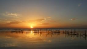 Ηλιοβασίλεμα σε Albufera της Βαλένθια στοκ εικόνα με δικαίωμα ελεύθερης χρήσης