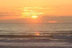 Ηλιοβασίλεμα σε Anglet Στοκ Εικόνα