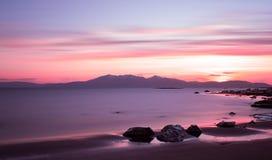 Ηλιοβασίλεμα σε Arran Στοκ εικόνα με δικαίωμα ελεύθερης χρήσης