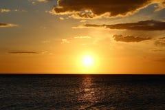 Ηλιοβασίλεμα σε Cabo Rojo Στοκ Φωτογραφίες