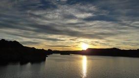 Ηλιοβασίλεμα σε Chubut Στοκ εικόνα με δικαίωμα ελεύθερης χρήσης