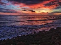 Ηλιοβασίλεμα σε Clearwater Φλώριδα στοκ εικόνα