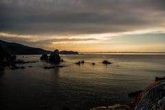 Ηλιοβασίλεμα σε Dragonstone Στοκ φωτογραφία με δικαίωμα ελεύθερης χρήσης