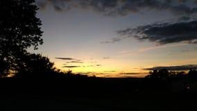 Ηλιοβασίλεμα σε Greenbrier ομο Wv Στοκ φωτογραφίες με δικαίωμα ελεύθερης χρήσης