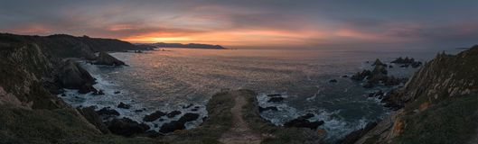 Ηλιοβασίλεμα σε Loiba στοκ φωτογραφία με δικαίωμα ελεύθερης χρήσης