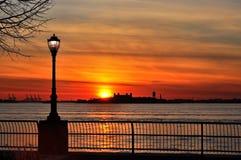 Ηλιοβασίλεμα σε NYC Στοκ εικόνες με δικαίωμα ελεύθερης χρήσης