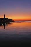 Ηλιοβασίλεμα σε Porec ââ¬â Κροατία Στοκ φωτογραφία με δικαίωμα ελεύθερης χρήσης