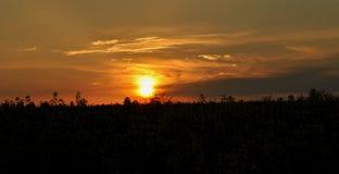 Ηλιοβασίλεμα σε Vresina στοκ φωτογραφία με δικαίωμα ελεύθερης χρήσης
