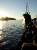 ηλιοβασίλεμα σκαφών Στοκ Εικόνα