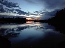 ηλιοβασίλεμα Σουηδία στοκ εικόνες με δικαίωμα ελεύθερης χρήσης