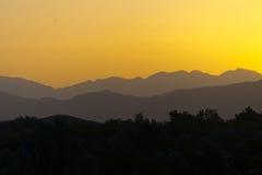 Ηλιοβασίλεμα στα βουνά ατλάντων Στοκ Φωτογραφία