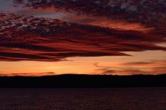 Ηλιοβασίλεμα στα καλύτερα χρώματά του Στοκ Φωτογραφίες