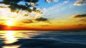 Ηλιοβασίλεμα στην ακτή της θάλασσας ελεύθερη απεικόνιση δικαιώματος