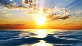 Ηλιοβασίλεμα στην ακτή της θάλασσας διανυσματική απεικόνιση