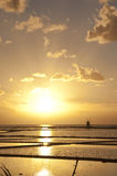 Ηλιοβασίλεμα στην αλυκή nonies στοκ εικόνες με δικαίωμα ελεύθερης χρήσης