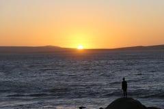 Ηλιοβασίλεμα στην Αφρική, στοκ φωτογραφία