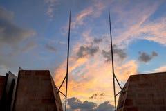 Ηλιοβασίλεμα στην είσοδο Valletta στοκ φωτογραφίες