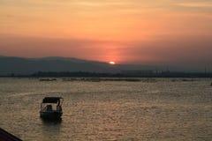 Ηλιοβασίλεμα στην Κίνα Στοκ φωτογραφία με δικαίωμα ελεύθερης χρήσης