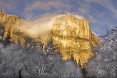 Ηλιοβασίλεμα στην κοιλάδα Yosemite Στοκ Φωτογραφία