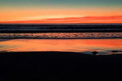 Ηλιοβασίλεμα στην παραλία καλωδίων, Broome, δυτική Αυστραλία, Αυστραλία στοκ φωτογραφία με δικαίωμα ελεύθερης χρήσης