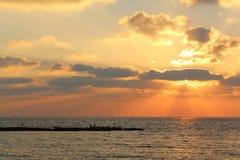 Ηλιοβασίλεμα στην παραλία της Καισάρειας, Ισραήλ στοκ φωτογραφία με δικαίωμα ελεύθερης χρήσης