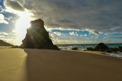 Ηλιοβασίλεμα στην παραλία Santa Cruz - Πορτογαλία Στοκ φωτογραφίες με δικαίωμα ελεύθερης χρήσης