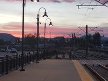 Ηλιοβασίλεμα στην πόλη! στοκ εικόνες