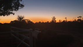Ηλιοβασίλεμα στην ταχυδρομική θυρίδα στοκ εικόνες