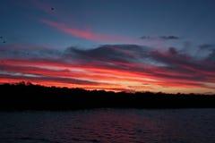 Ηλιοβασίλεμα στη θάλασσα στη Φλωρεντία στοκ εικόνα με δικαίωμα ελεύθερης χρήσης