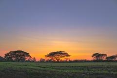 Ηλιοβασίλεμα στη κλαμπ γκολφ Pattaya στοκ εικόνες