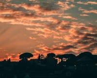 Ηλιοβασίλεμα στη Ρώμη στοκ εικόνες