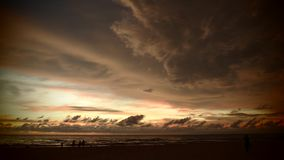 Ηλιοβασίλεμα στη Σρι Λάνκα Στοκ Φωτογραφία
