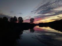 Ηλιοβασίλεμα στις Κάτω Χώρες 3 στοκ φωτογραφία με δικαίωμα ελεύθερης χρήσης