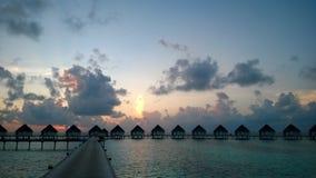 Ηλιοβασίλεμα στις Μαλδίβες Στοκ Φωτογραφίες