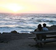Ηλιοβασίλεμα στον Ειρηνικό στοκ εικόνες με δικαίωμα ελεύθερης χρήσης