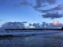 Ηλιοβασίλεμα στον κόλπο Hanalei Kauai στο νησί, Χαβάη Στοκ Εικόνες