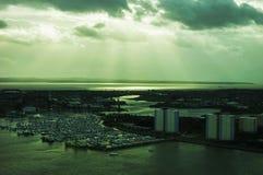 Ηλιοβασίλεμα στον ωκεανό στοκ εικόνα με δικαίωμα ελεύθερης χρήσης