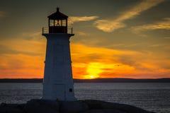 Ηλιοβασίλεμα στον όρμο της Peggy ` s, Nova Scoita Στοκ εικόνα με δικαίωμα ελεύθερης χρήσης