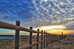 Ηλιοβασίλεμα στο Αλεντέιο Πορτογαλία Στοκ εικόνες με δικαίωμα ελεύθερης χρήσης