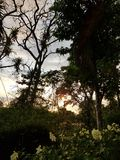 Ηλιοβασίλεμα στο βουνό στοκ φωτογραφίες