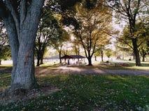 Ηλιοβασίλεμα στο πάρκο Στοκ εικόνες με δικαίωμα ελεύθερης χρήσης