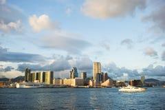 Ηλιοβασίλεμα στο Χογκ Κογκ Στοκ εικόνα με δικαίωμα ελεύθερης χρήσης