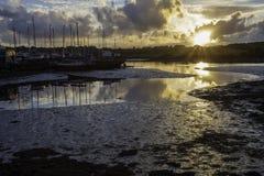 Ηλιοβασίλεμα στο Boatyard Στοκ Εικόνες