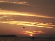 Ηλιοβασίλεμα στο sant Antoni de portmany Στοκ Εικόνα