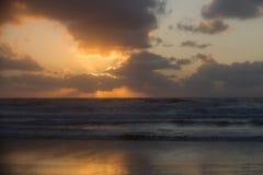 Ηλιοβασίλεμα στο Scheveningen Ολλανδία στοκ εικόνα με δικαίωμα ελεύθερης χρήσης